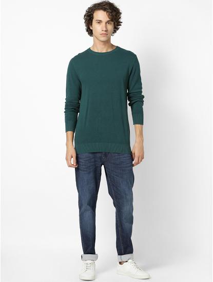 100% Cotton Green Sweater