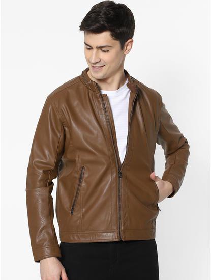 Camel Biker Jacket