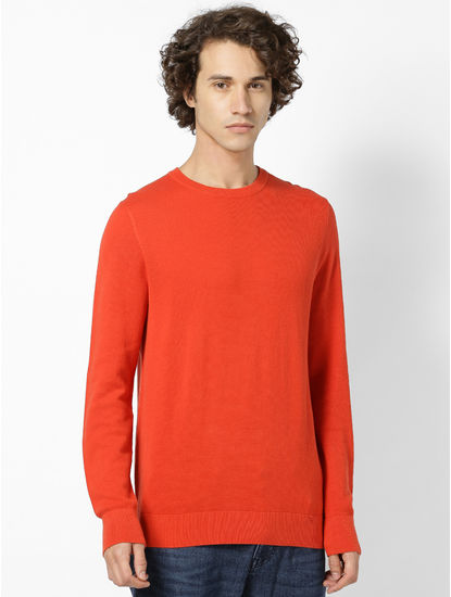 100% Cotton Red Sweater