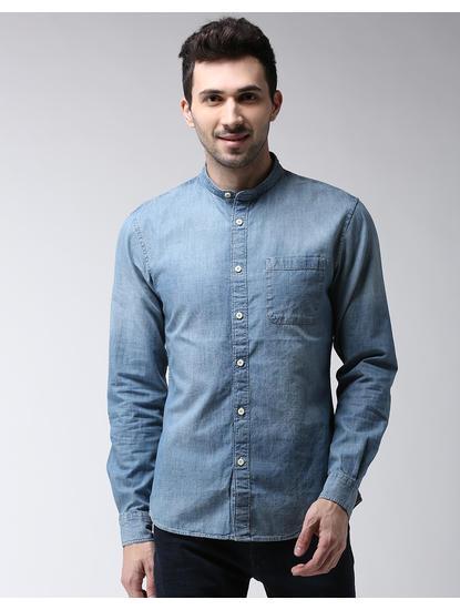Chambray Solid Casual Shirt