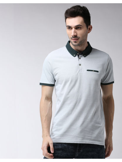 Green Mint Solid Polo T-Shirt