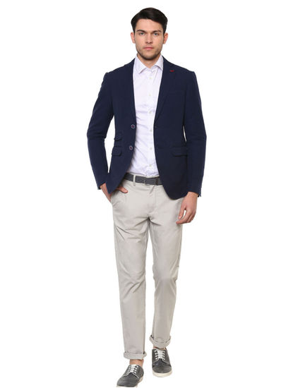 Navy Solid Blazer