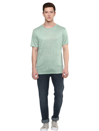 Green Lichen Solid T-Shirt