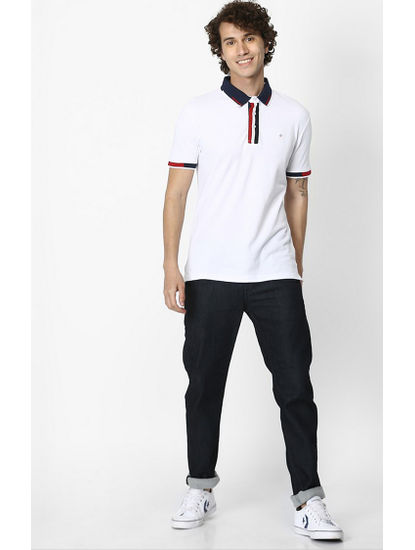 100% Cotton White Polo T-Shirt