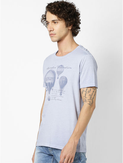 100% Cotton Light Blue T-Shirt