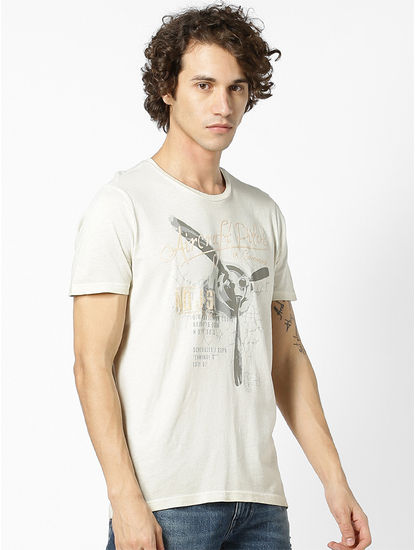 100% Cotton Beige T-Shirt