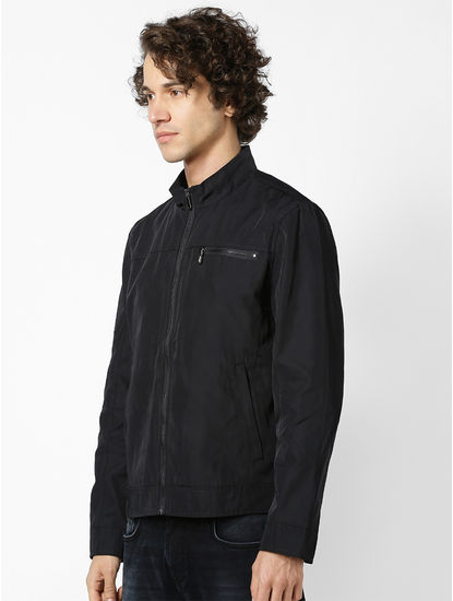 Jacket with shirt collar