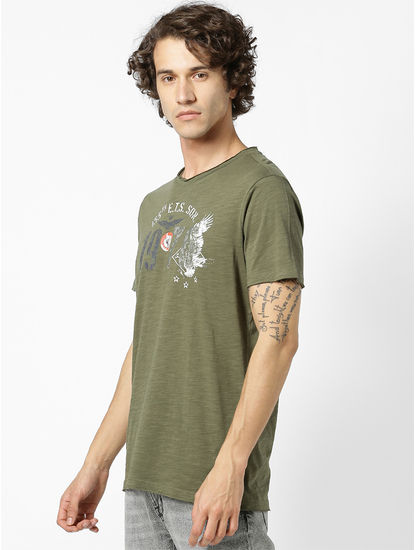 100% Cotton Olive T-Shirt