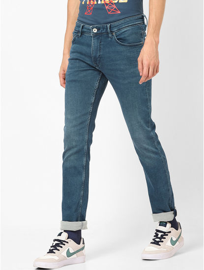 Double stone straight fit jeans