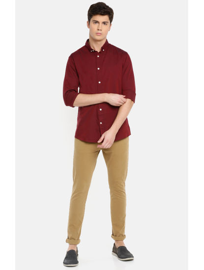 100% Cotton Burgundy Shirt