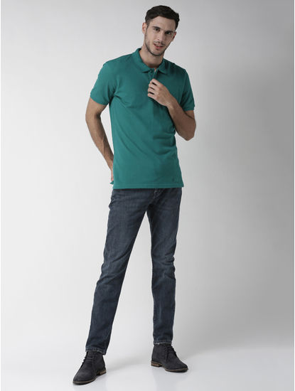 100% Cotton Green Polo T-Shirt