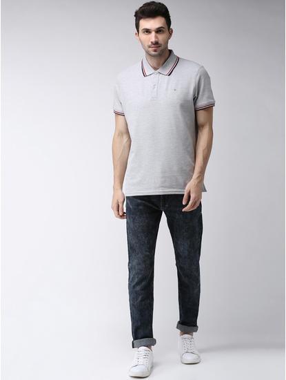 100% Cotton Grey Polo T-Shirt