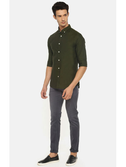 100% Cotton Dark Green Shirt