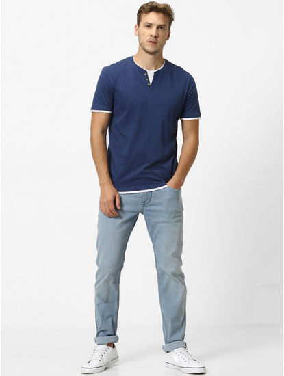 Navy Solid T-Shirt
