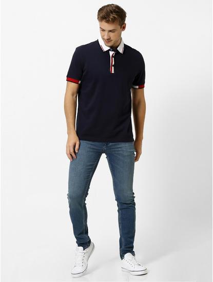 100% Cotton Navy Polo T-Shirt