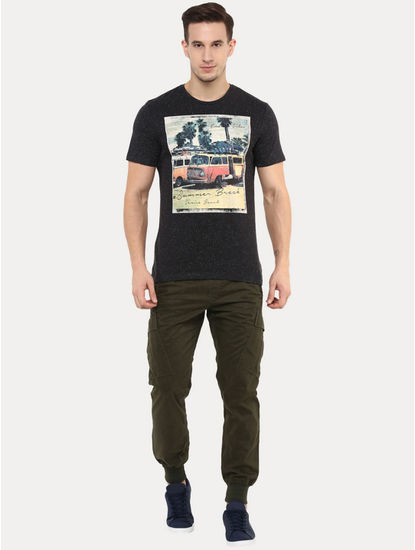 Jevenise Black Printed T-Shirt
