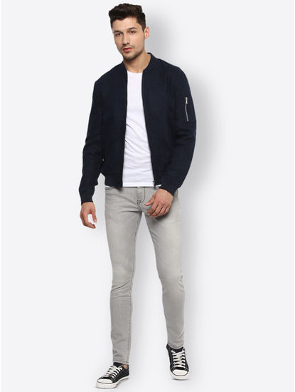 Navy Solid Jacket