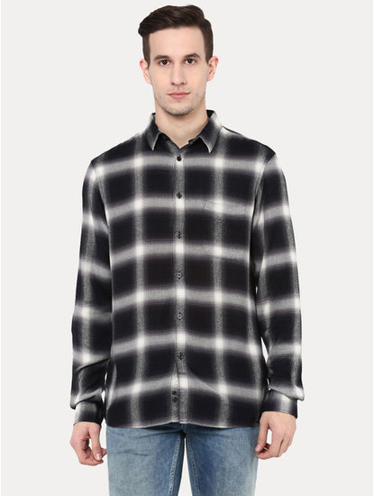 Black Checked Casual Shirt