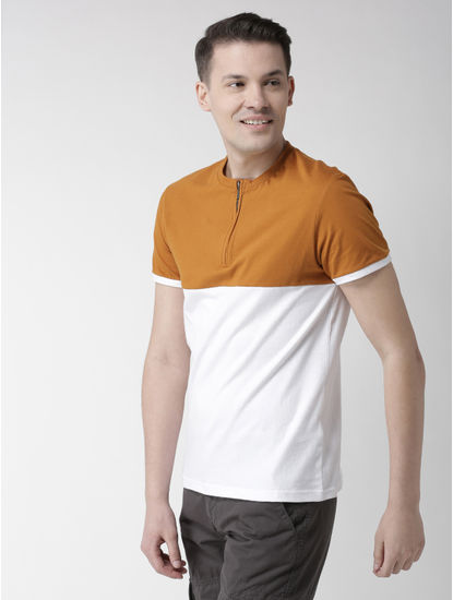 Brown Colourblock T-Shirt