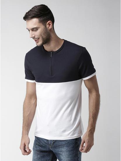Navy Colourblock T-Shirt