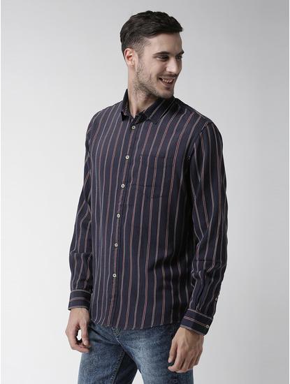 Soft Touch-Regular Fit Indigo Shirt