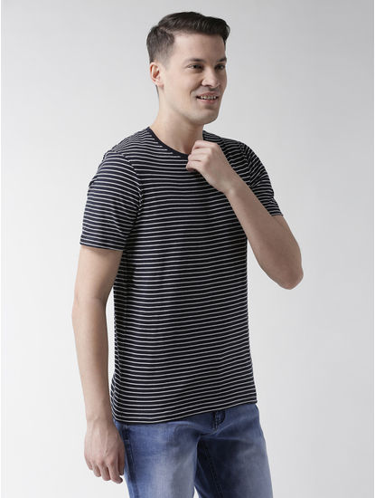 Navy Blue Striped T-Shirt