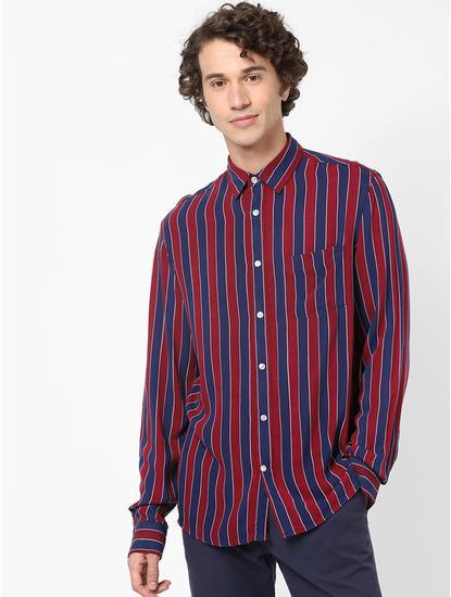 Regular Fit Burgundy Soft Touch Shirt