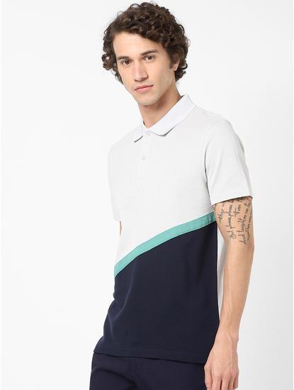 100% Cotton White Polo T-Shirt