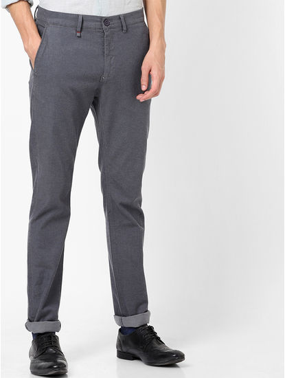 Charcoal Slim Fit  Chinos