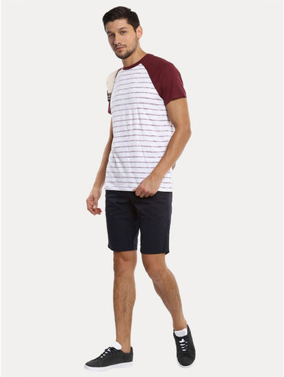 Navy Solid Shorts
