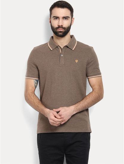 Brown Solid T-Shirt