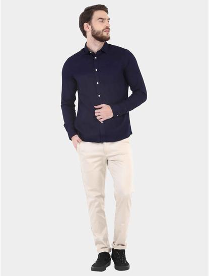Indigo Solid Casual Shirt