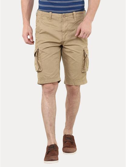 Camel Solid Shorts