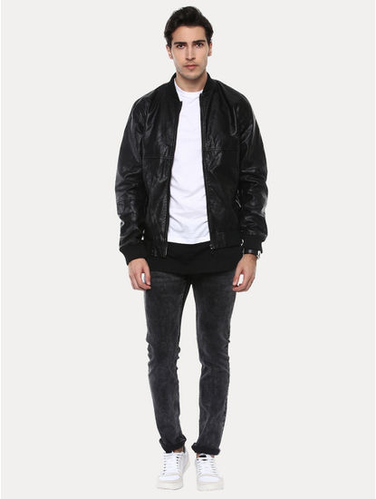 Guteddy Black Solid Jacket