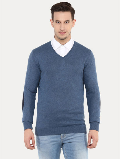 Fever Blue Melange Sweater