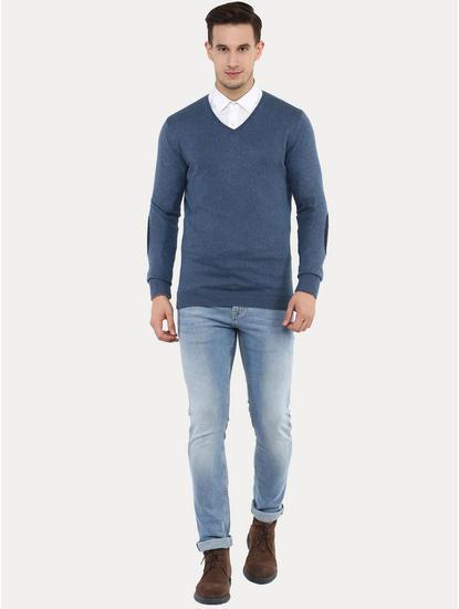 Fever Blue Melange Sweater