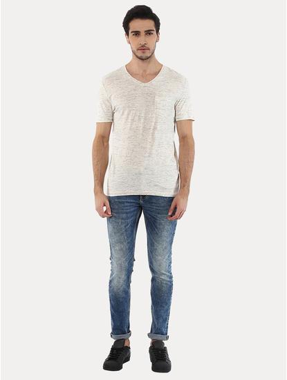 Vebasic Beige Melange T-Shirt