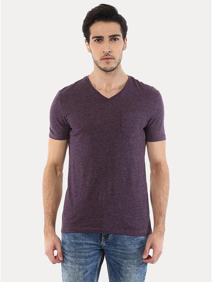 Vebasic Dark Purple Melange T-Shirt
