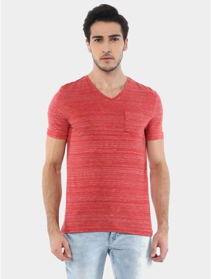 Vebasic Red Melange T-Shirt