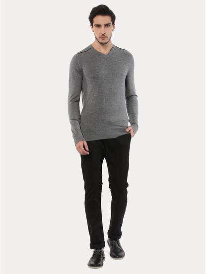 Jegivre Grey Melange Sweater