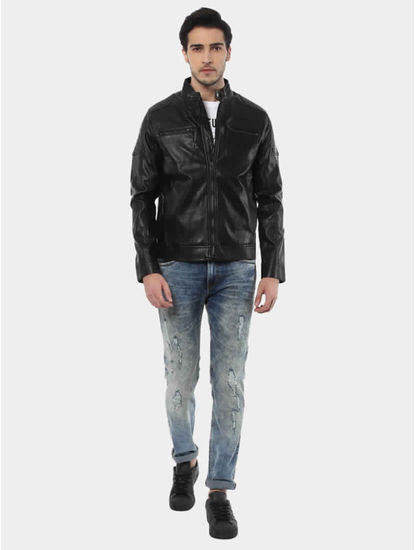 Jubiker Black Solid Jacket