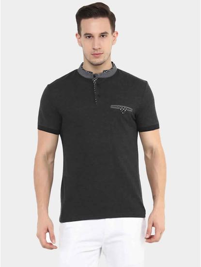 Genewcol Grey Solid T-Shirt