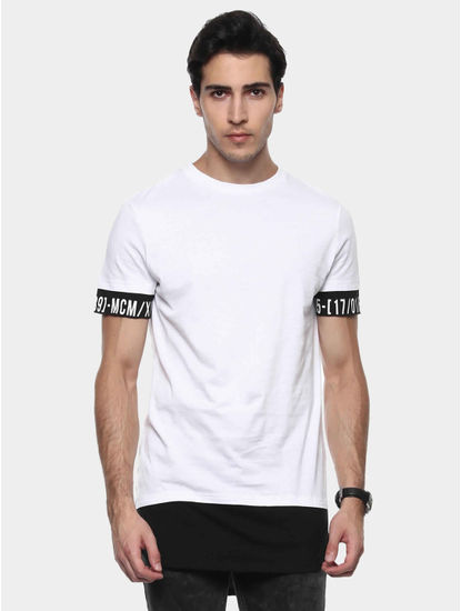 Jepride Optical White Solid T-Shirt