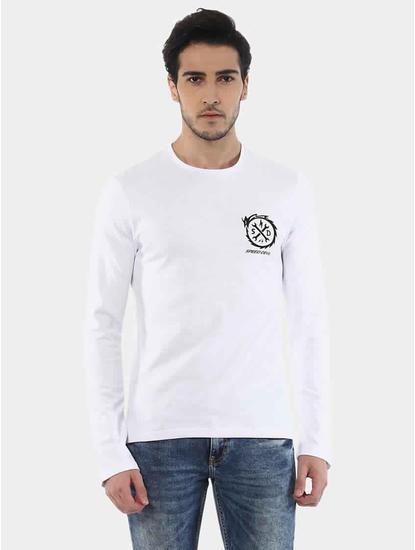 Jenuts White Solid T-Shirt
