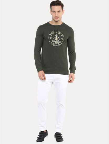 Jescape Green Printed T-Shirt