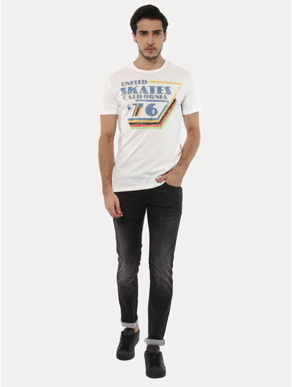 Jecousse Off White Printed T-Shirt