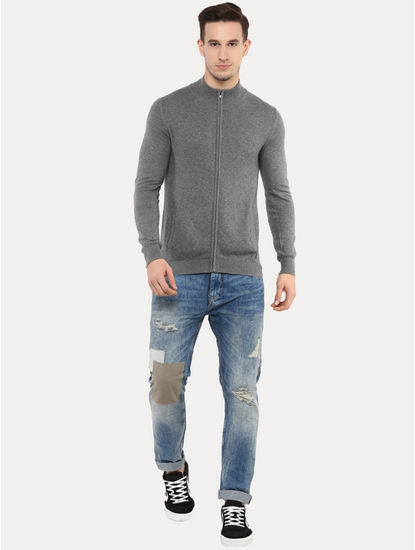 Fegilet Grey Melange Sweatshirt