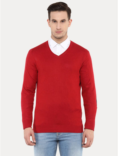 Fever Red Solid Sweater
