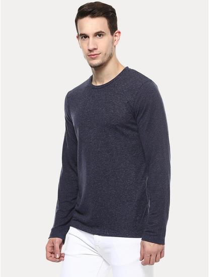 Navy Blue Melange T-Shirt