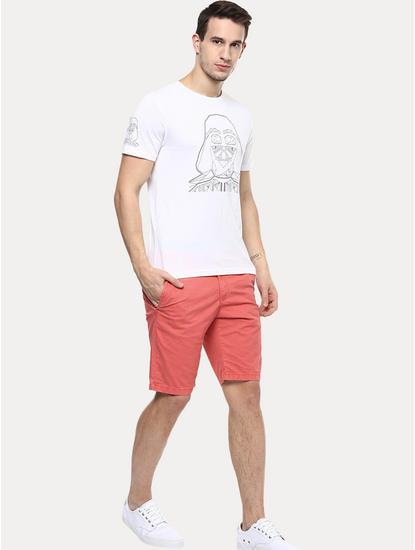 Light Orange Solid Shorts